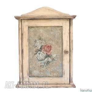 wieszaki różany bukiet - szafka na klucze, prezent, schowek, skrzyneczka, klucz