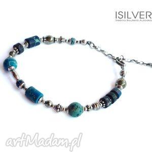 bransoletki jaspis cesarski blue - ii bransoletka, jaspis, srebro