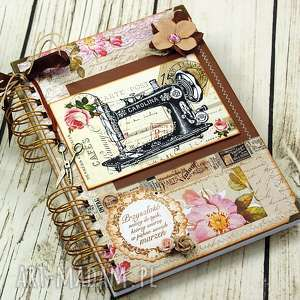 świąteczny prezent, notatnik krawiecki - retro, notes, planer, krawiecki