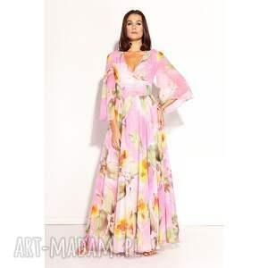 sukienki sukienka dalida, weselna, romantyczna, kolorowa, zwiewna, szyfonowa