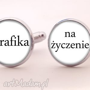 handmade spinki do mankietów grafika na życzenie - spinki do mankietów