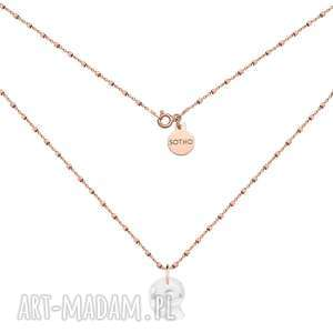 naszyjnik z różowego złota z muszelką swarovski® crystal