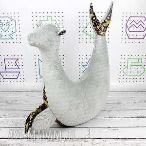 Foka Rebeka Gwiazdy Gray - Poduszka do karmienia , poduszka, dekoracyjna,