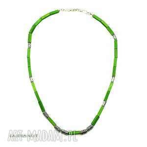 zielony naszyjnik - uniwersalny - uniwersalny, lekki, casual, codzienny, nacodzień