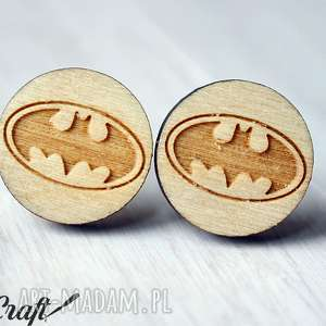 Drewniane spinki do mankietów BATMAN, drewniane, batman, unikatowe, ekologiczne