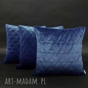 poduszki velvet, komplet lazurowy 45x45cm, poduszek, zestaw poduszek