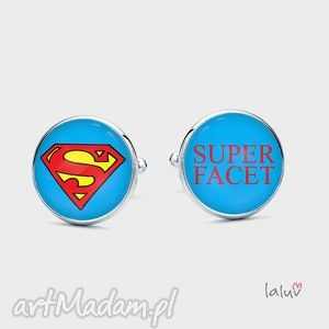 spinki do mankietów super facet - eleganckie, prezent, śmieszne, spinki, dzień