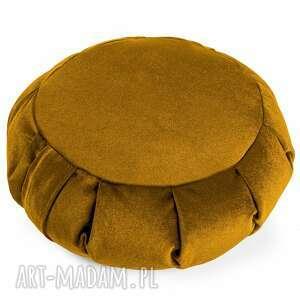poduszka do medytacji zafu tworky - z gryką welurowa, joga, pufa