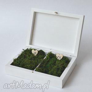 Prezent Pudełko na obrączki ślubne Rustykalne, ślub, dekoracje, akcesoriaślubne