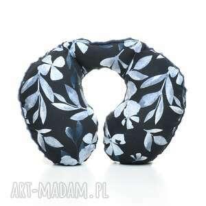 poduszka podróżna rogal blue flowers - niebieskie, milutka