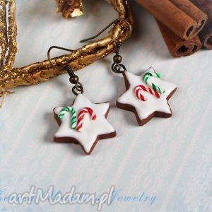 świąteczne kolczyki pierniczki ciastka na prezent, kolczyki, świąteczne, święta