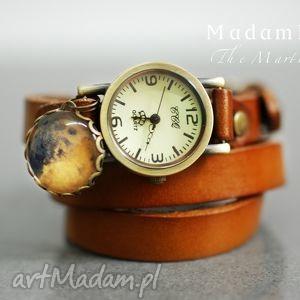 marsjanin skórzany zegarek - biżuteria, prezent, berlin