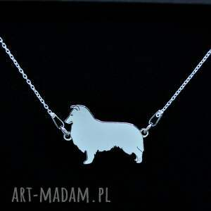 owczarek szetlandzki / sheltie - naszyjnik, srebro próby 925, pies