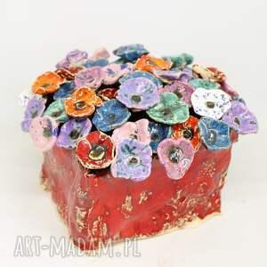 wielki flower box kwiaty ceramiczne 50szt komple handmade