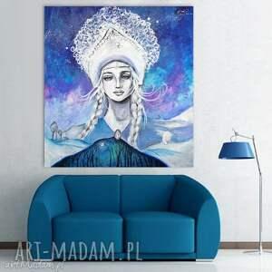 Cказка/Bajka obraz na w 100% bawełnianym płótnie 100x90cm artystki Adriany Laube
