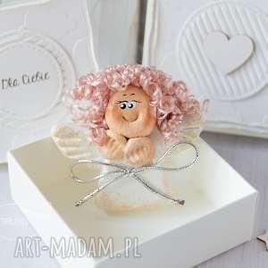 aniołek stróż z kartką w mini pudełeczku przeurocza alternatywa dla karki