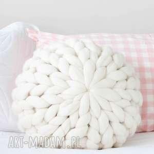 poduszki wełniana poduszka chunky xxl wełna merynos, poduszka, dekoracyja