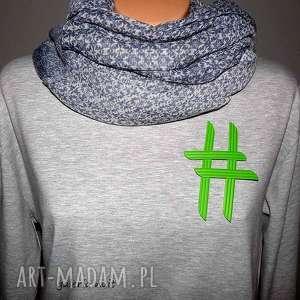 ręcznie robione broszki hasztag # broszka zielona