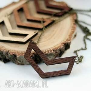 drewniany naszyjnik - geometryczny - drewniany, naszyjnik, geometryczny, geometric, drewno
