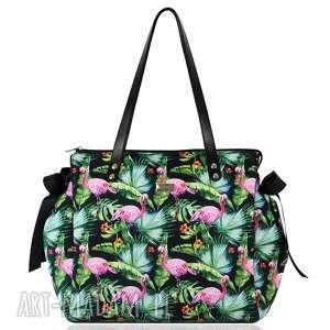 torebki kuferek colorful 1148, kuferek, tasiemki, flamingi, prezent na święta