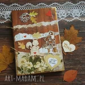 pamiętnik/ sekretnik tajemniczy ogród, wiewiórka, dom, listki, pamiętnik