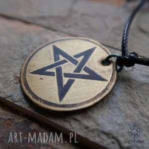 bransoletka charm - odwrócony pentagram, charm, bransoletka, gwiazda