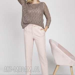swetry dzianinowa bluzeczka, swe182 mocca mkm, sweter, dzianina, modny, lekki