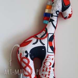 maskotki żyrafka ahoy/czerwony, maskotka, przytulanka, dziecko, żyrafka, minky