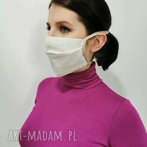 maseczka ochronna bawełna - złota nitka, maska, maseczka, bawełna, nitka