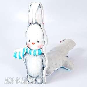 hand-made maskotki przytulanka króliczek minky