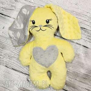 maskotki królik z minky, przytulanka dla dziecka, maskotka