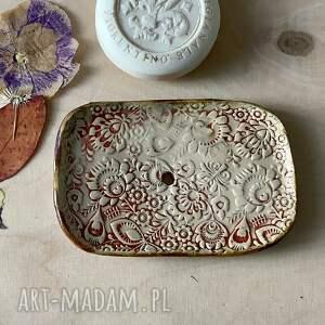 hand-made ceramika ceramiczna mydelniczka na ludowo