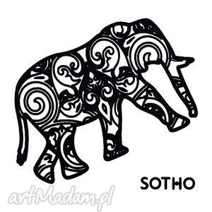 ręcznie wykonane tatuaż z czarnym indyjskim słoniem