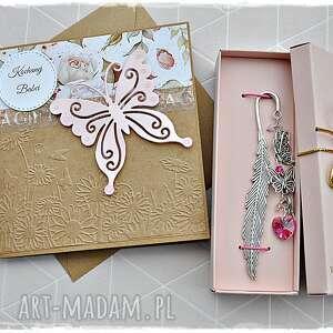 prezent na dzień babci - zestaw kartka i zakładka, kartka