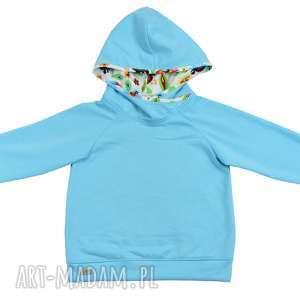 ŁOWICKA bluza z kapturem dla dziewczynki, bawełniana bluza, rozmiary 92, 110