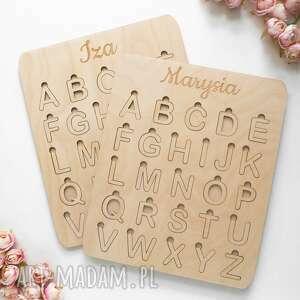 układanka alfabet, drewniany drewniane puzzle, pomoce