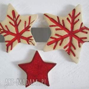 wyjątkowe prezenty, zestaw 3 gwiazdeczek, ozdoby świąteczne, bożonarodzeniowe