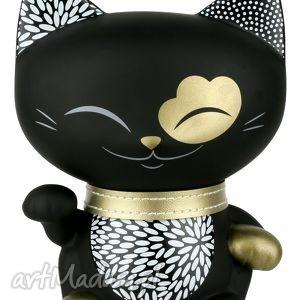 skarbonka mani lucky cat czarna 20 cm - skarbonka, maniluckycat, maneki, kimmidoll
