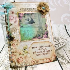 pamiętnik- róże i paryż, pamiętnik, notatnik, francja, sekretnik, róże