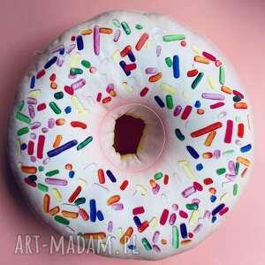 poduszka pączek różowy donut xxl duży, poduszki, donut, poduszka, pączek, pokój