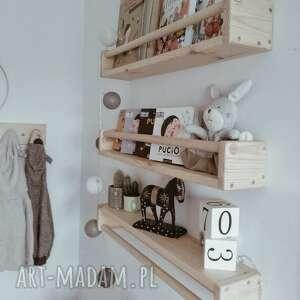 drewniana półka na książki, skandynawski, montessori, boho, drewniane, dziecka