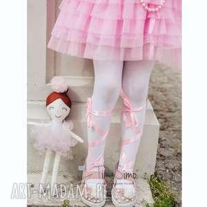 Lalka ręcznie robiona Melania (Różowe dodatki), bawełna