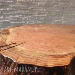 hand-made stoły stolik z plastra drewna żywicy