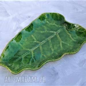 patera ceramiczna - talerz dekoracyjny liść, ceramika, patera, talerz, liść