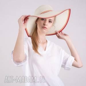 Bluzka koszulowa letnia muślin biała bluzki trzyforu bluzki