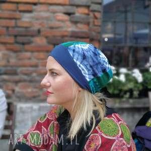 ręczne wykonanie czapki czapka patchworkowa bardzo długa letnia
