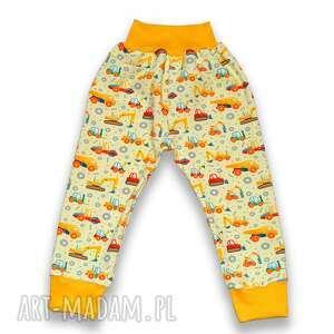 koparki wywrotki całoroczne bawełniane spodnie dla chłopca, rozmiary 56-116