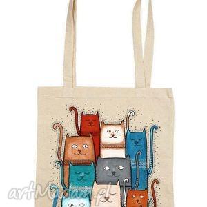 Torba na zakupy, torba, bawełna, kot, koty