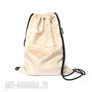 plecak worek welurowy, plecak, worek, podróżny, aksamitny, wzór