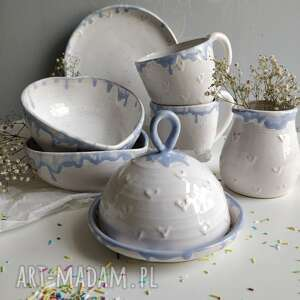 ceramiczny zestaw śniadaniowy - zastawa, ceramika użytkowa, kubek ceramiczny